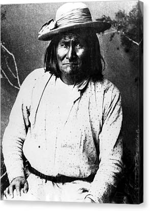 Famous Apache Leader, Geronimo Canvas Print by Everett
