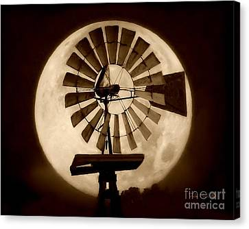 Fan In The Moon Canvas Print