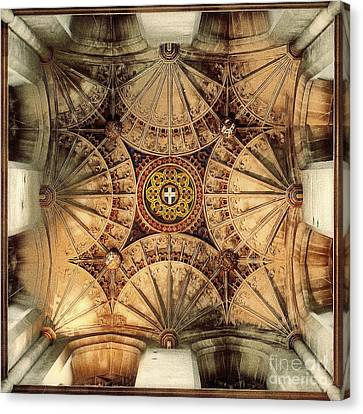 Fan Vaulting Canterbury Cathedral Canvas Print by Jack Torcello