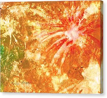 Fantastic Fireworks Canvas Print by Rosie Brown