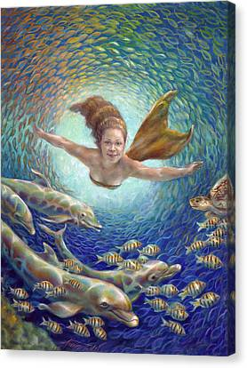Pennekamp Canvas Print - Fantastic Journey II - Mermaid by Nancy Tilles