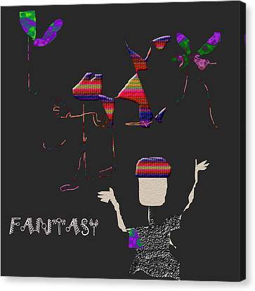 Canvas Print featuring the digital art Fantasy by Asok Mukhopadhyay