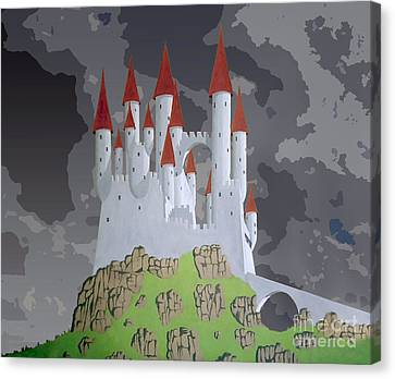 Fantasy Castle Canvas Print by Rod Jones