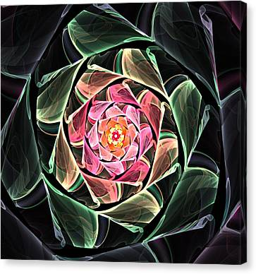 Fantasy Floral Expression 111311 Canvas Print by David Lane