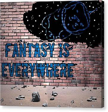 Fantasy Is Everywhere Graffiti Canvas Print by Jera Sky