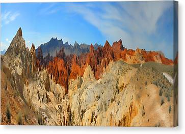 Canvas Print featuring the photograph Fantasy Mountains by Gregory Scott