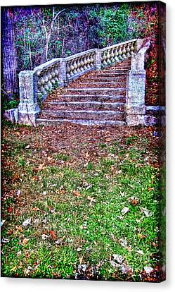 Fantasy Stairway Canvas Print by Olivier Le Queinec