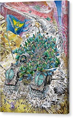 Fantasy Tank Running Wild Canvas Print by Fabrizio Cassetta
