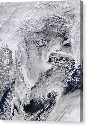 Far Eastern Russia Covered In Snow Canvas Print