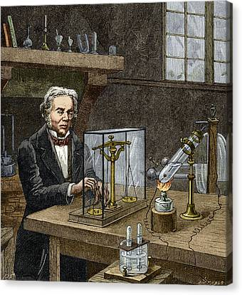 Faraday's Electrolysis Experiment, 1833 Canvas Print by Sheila Terry