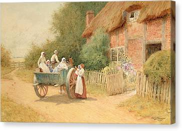 Farewell Canvas Print by Arthur Claude Strachan