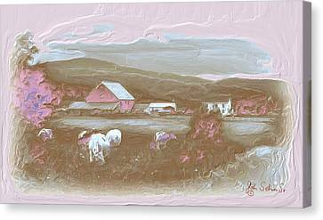Farm   In Pink Canvas Print