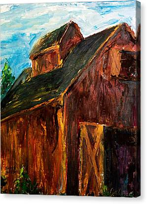 Farm Barn Canvas Print by Scott Nelson