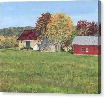 Farm On Ridge Road Canvas Print