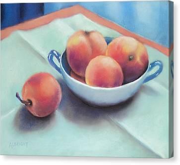 Farm Peaches Canvas Print by Judy Albright