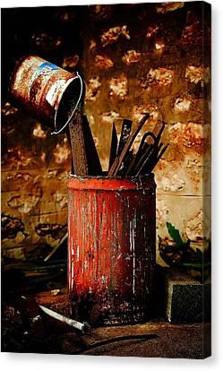 Farm Yard Bucket Canvas Print