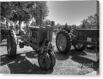 Farmall And Oliver In B-w Canvas Print by David Bearden