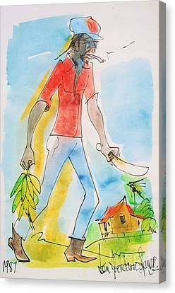 Haitian Canvas Print - Farmer by Carey Chen