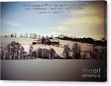 Farmer's Christmas Canvas Print by Sabine Jacobs
