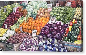 Farmers Market Canvas Print by Nancy Pahl