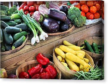 Farmers Market Summer Bounty Canvas Print