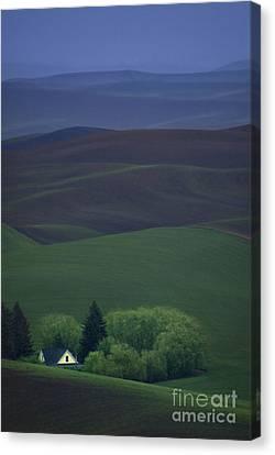 Farmhouse Canvas Print by Lori Grimmett