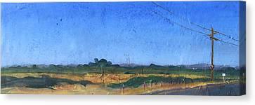 Farmscape 1 Canvas Print by Dayton Claudio