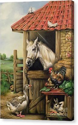 Farmyard Friends Canvas Print by Carl Donner