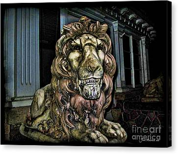 Farnam Manor Haunt Canvas Print by Joan  Minchak