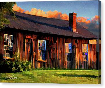 Farrier's Shed Canvas Print by Suni Roveto