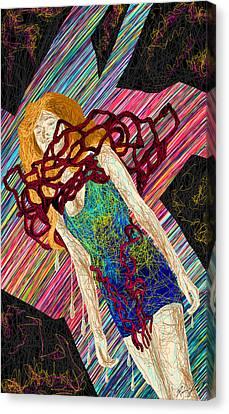 Fashion Abstraction De Dan Richters Canvas Print by Kenal Louis