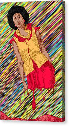 Fashion Abstraction De Fella Canvas Print - Fashion Abstraction De Fella by Kenal Louis