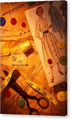 Fashion Old Dress Pattern Canvas Print by Garry Gay