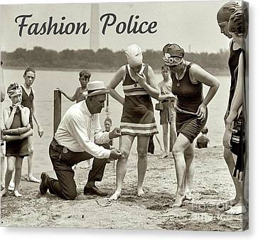 Fashion Police 1922 Canvas Print by Padre Art