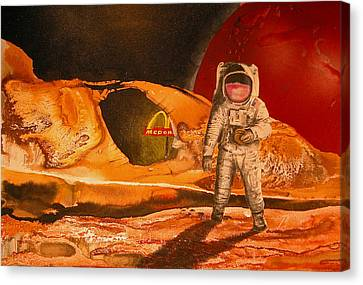 Fast Food In Outer Space Canvas Print by Rhodes Rumsey