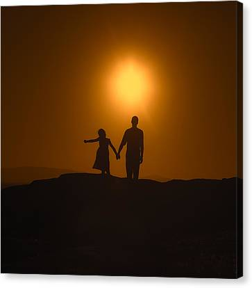 Father And Daughter Canvas Print by Joana Kruse
