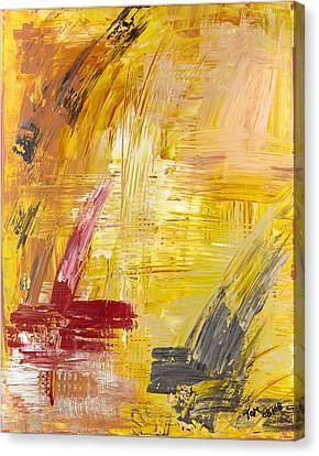Faust Auf Dem Tisch Canvas Print by Thomas Kleiner