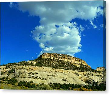 Canvas Print featuring the photograph Faux Volcano by Lin Haring