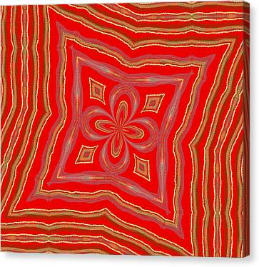 Canvas Print featuring the digital art Favorite Red Pillow by Alec Drake