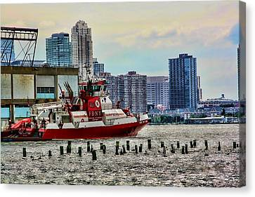 Fdny Fireboat Canvas Print by Terry Cork
