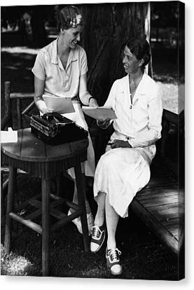Fdr Presidency. Daughter Of First Lady Canvas Print by Everett