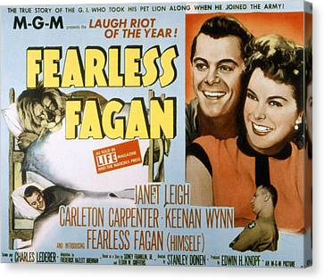 Fearless Fagan, Carleton Carpenter Canvas Print by Everett