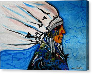 Feather Head Canvas Print by Lance Headlee