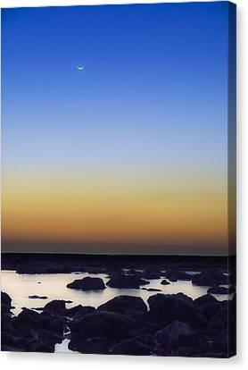 February New Moon Canvas Print by Meir Ezrachi