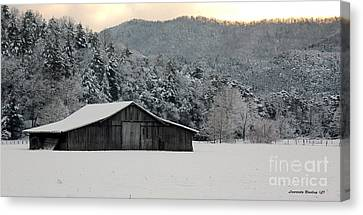 February's Snow Canvas Print by Laurinda Bowling