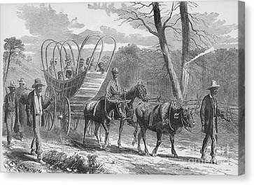 Federal Camp Contraband, 19th Century Canvas Print by Photo Researchers