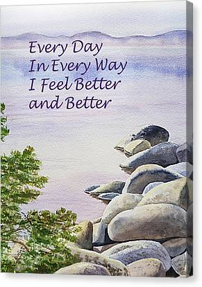 Feel Better Affirmation Canvas Print by Irina Sztukowski