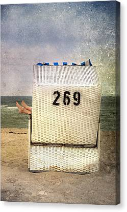 Feet And Beach Chair Canvas Print by Joana Kruse