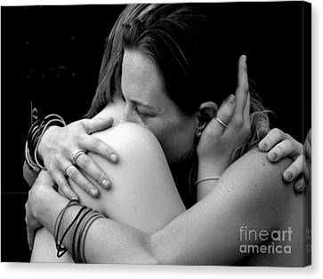 Female Embrace Canvas Print