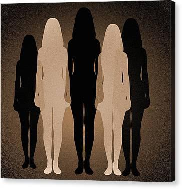 Psychiatric Canvas Print - Female Identity, Conceptual Image by Victor De Schwanberg